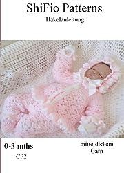 Häkelanleitung - CP10 - Babyjacke, Hose und Mütze im Design