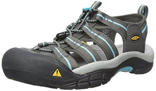 KEEN Women's Newport H2 Sandal, Grigio/azzurro (Raven/Capri), 35 B(M) EU/2.5 B(M) UK