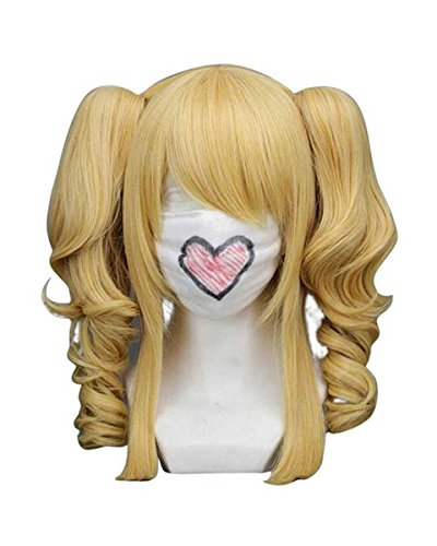 Tsnomore Curly Middle Length Ponytails Cosplay Wig (Mixed Blonde) (Curly Blonde Costume Wig)