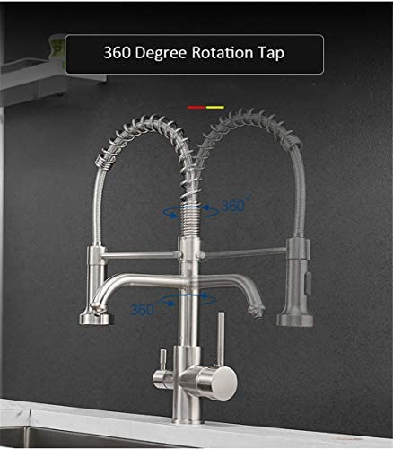 キッチンろ過蛇口水タップ真鍮浄水器蛇口デュアルスプレーヤー飲料水タップ容器シンクミキサータップトルネイラ