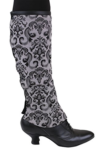 Spats Saddle Shoe (Historical Emporium Women's Reversible Faux Leather Gaiters S Black)