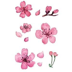 Temporary Tattoos Peach blossom Tattoo Sticker for Women Girl LQDD013