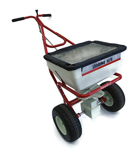 Shindaiwa-RS76-Commercial-Broadcast-Push-SPREADER-w-Cover-Salt-Seed-Fertilizer