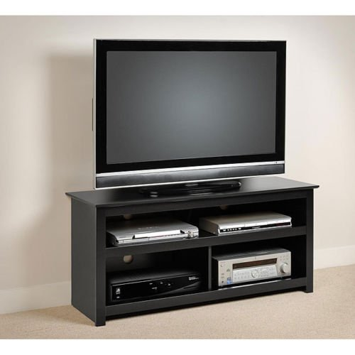 - Black Entertainment Center Tv Stand Console for Flat Screens , Plasma and Other Brands. A Great Console. Sale. Easy Blends with Other Furniture Made of Wood. A High Quality Console Table. Great for Dining Room, Living Room or Bedroom Viewing Storage.