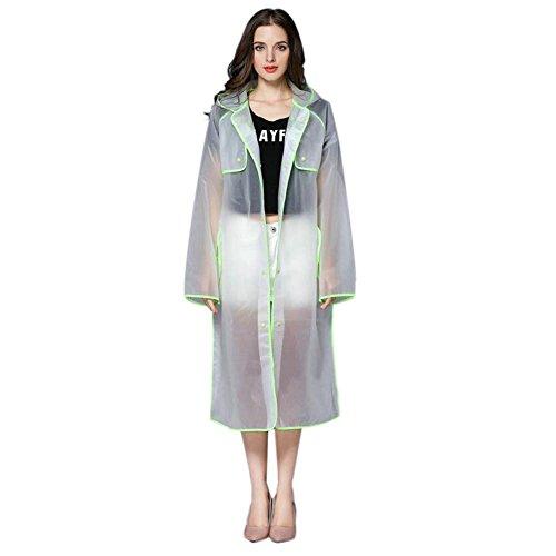 De Randonnée Mode Poncho Longue Plein Encapuchonné À Deylaying Transparent Sports Eva Vêtements Vert Portable La Raincoat Femmes Air Imperméable Pluie SgxTA