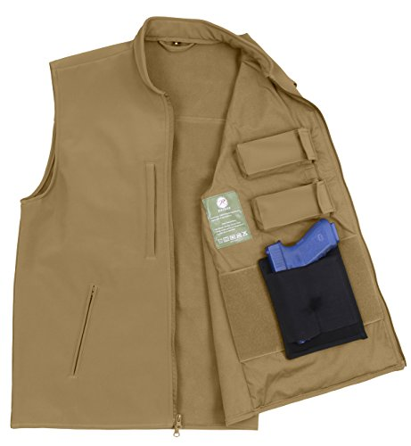 (Rothco Concealed Carry Soft Shell Vest, Coyote Brown,)