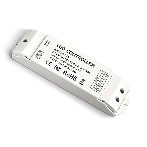 V2 Dimmer (LEDBUY360 R4-5A CV Zone Receiving controller 2.4G Wireless LED Receiver Suitable for DX5, DX6, DX7, DX8, V1, V2, V3, V4, V5, V6, V7, V8, WiFi-104)