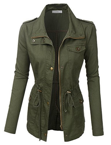 LE3NO Womens Lightweight Utility Military
