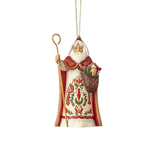 Enesco Jim Shore Heartwood Creek Austrian Santa Stone Resin, 4.5