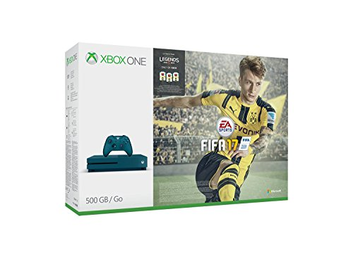 Xbox One S 500GB Konsole (Blau) - FIFA 17 Special Edition Bundle