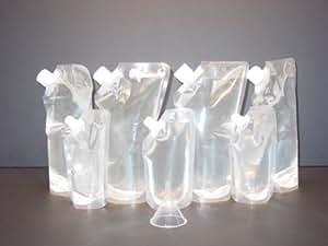 Genuine Rum Runner® Spring Break Cruise Kit 4 32oz and 3 8oz Flasks Plus a Funnel