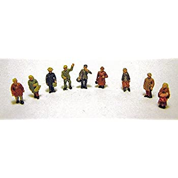 N scale Langley A106 - Unpainted Assorted Firemen Figures