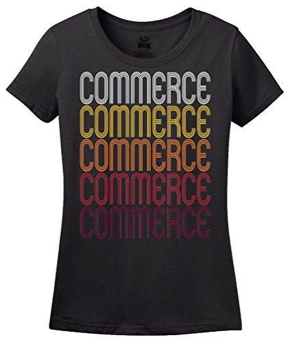 Commerce, GA   Retro, Vintage Style Georgia Pride - Ga Commerce