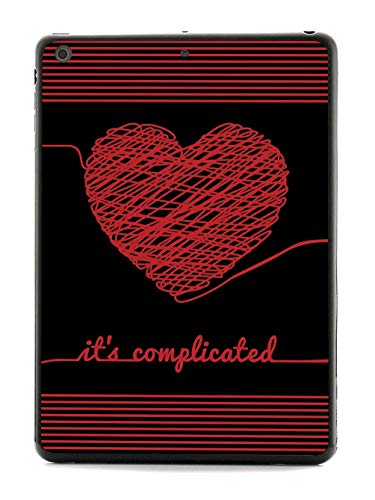 Inspired Cases - 3D Textured iPad Mini Case - Protective Tablet Cover - Rubber Bumper Cover - Case for Apple iPad Mini - Chaos Doodle Heart - It's Complicated - Black Case
