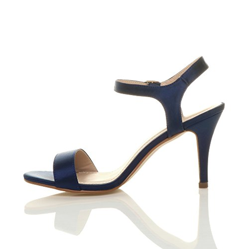Ajvani Barely High Navy There Women Size Heel Sandals Satin Shoes r4apx4wt