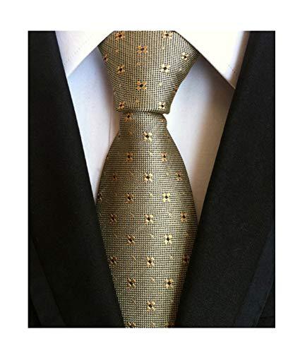 (Men Bronze Necktie Vintage Floral Silk Cravat Woven Leisure skinny Designer Ties)