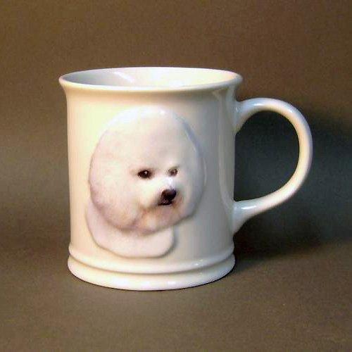 11 Oz Sculpted Ceramic Mug - Bichon Frise Sculpted Ceramic Mug