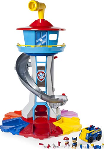 Nickelodeon Paw Patrol   My Size Lookout Tower with Exclusive Vehicle, Rotating Periscope and Lights and Sounds
