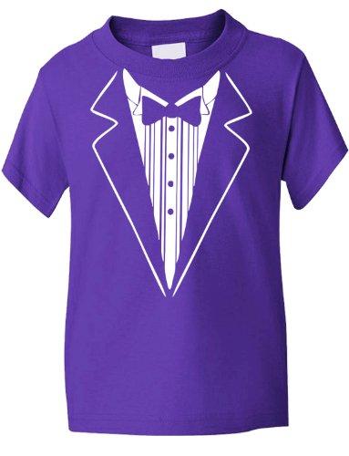 Print4U Tuxedo Fancy Dress Funny Kids T-Shirt 5-6 Purple (Kids Fancy Dress Next Day Delivery)