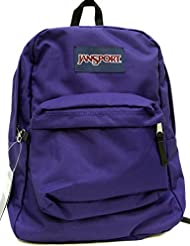 JANSPORT SUPERBREAK BACKPACK SCHOOL BAG - Electric Purple- 4UT