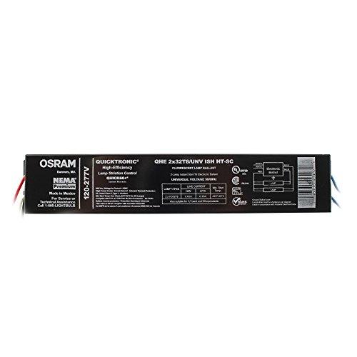 T8 Fluorescent Ballast 277 (Sylvania QHE2x32T8/UNV-ISH HT-SC Fluorescent Ballast, 2-Lamp, F32T8, 32W T8, 120/277V)