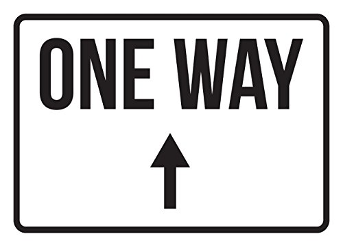 One Way Up Arrow No Parking Business Safety Traffic Signs Black - 7.5x10.5 - Metal by iCandy Products Inc