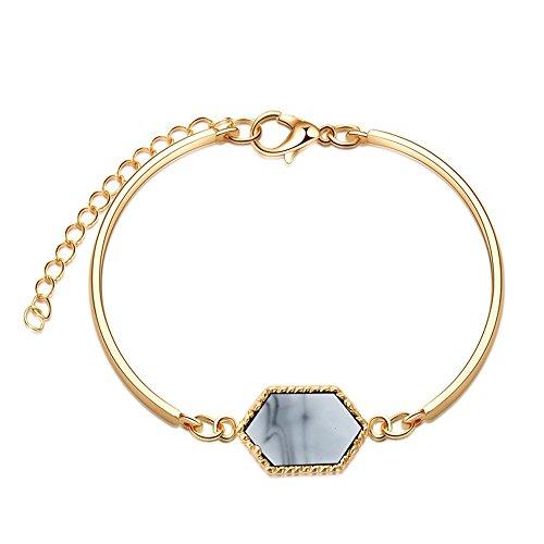 Loweryeah New Alloy Geometric Fashion Simple Bracelet -1