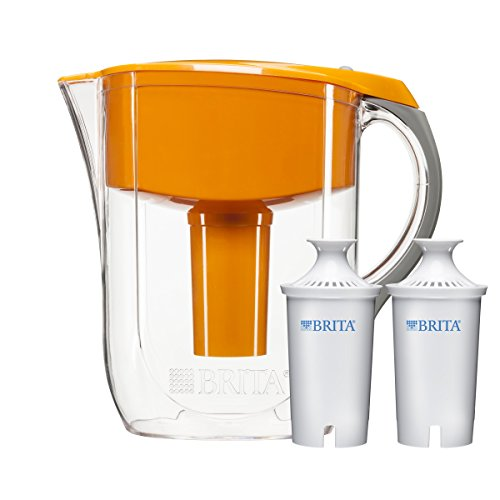 Brita 10 Cup Orange Grand Water Filter Pitcher with 2ct Filter (Brita Water Bottle Orange compare prices)