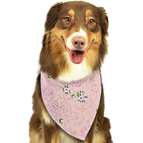 OURFASHION Ditsy Rose Garden Bandana Triangle Bibs Scarfs Accessories for Pet Cats and Puppies