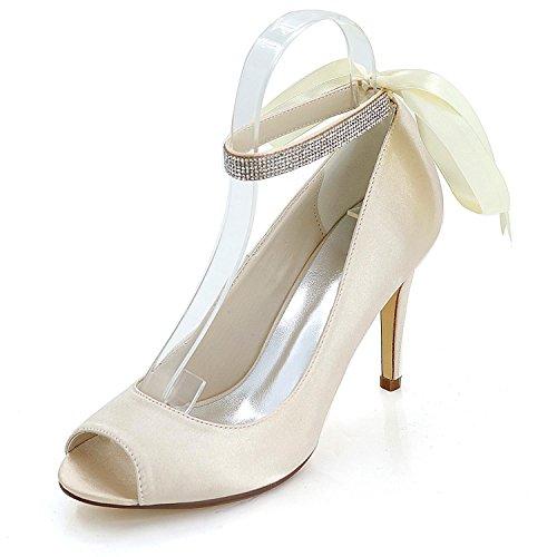 L@YC Women High Heel Shoes Heel Heel Sandals Wedding / Party Night & Y5623-12K Champagne ZwSHq