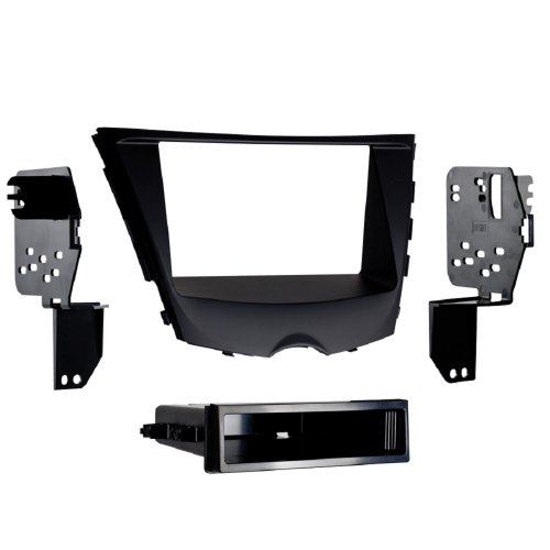 Metra 99-7350B 2012-Up Hyundai Veloster ISO Single/Double DIN Installtion Kit with Pocket ()