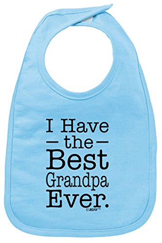 Baby Bibs and Burp Cloths Cute Baby Bibs I Have the Best Grandpa Ever Cute Baby Baby Bib Light Blue (Grandpa Gift Ideas From Baby)
