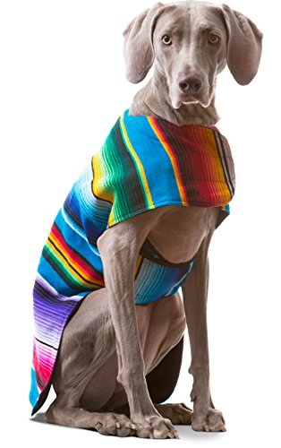 Italian Greyhound Halloween Costume Star Wars (Baja Ponchos Dog Clothes - Handmade Dog Poncho from Authentic Mexican Blanket (No Fringe,)
