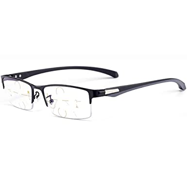 fe5340684cbe Image Unavailable. Image not available for. Color: SHEEN KELLY Multi Focus Progressive  Reading Glasses Blue Light Blocking Mens Women ...