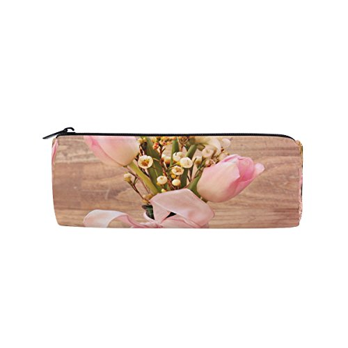 Insect Vase - Pencil Case Tulip Flower Vase Insect Art Pen Bag Students Stationery Storage Pouch, Makeup Pouch Wallet for Women