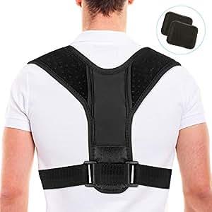 Corrección de Postura, Fixget Posture Corrector para Mulheres e Homens Ajustável Na Parte Superior Das Costas Postura Corrector Brace Postura Terapêutica Da Parte Superior do Corpo Preparem(M)