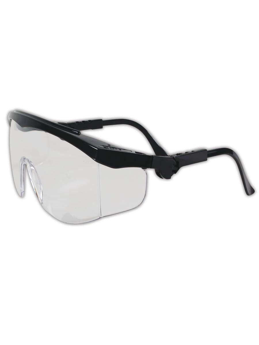Crews Tomahawk Safety Glasses Black Frame Clear Anti-Fog Lens