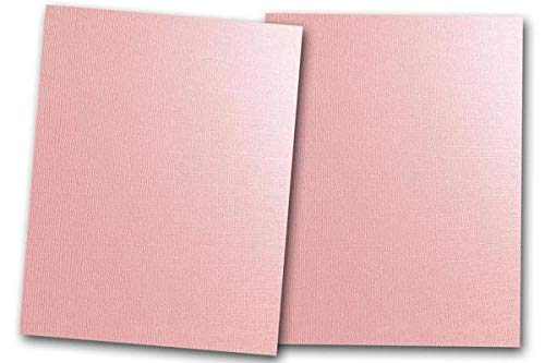 Premium Pearlized Metallic Textured Pink Taffeta Card Stock 80 Sheets - Matches Martha Stewart Pink Taffetta - Great for Scrapbooking, Crafts, Flat Cards, DIY Projects, Etc. (4 x 6) -