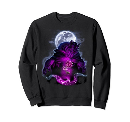 Unisex Disney Beauty & The Beast Moon Rose Airbrush Art Sweatshirt Large - Beauty Sweatshirt T-shirt