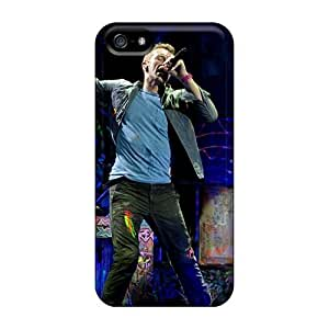 DannyLCHEUNG Iphone 5/5s Protector Hard Phone Case Support Personal Customs Nice Coldplay Band Pictures [GlD1235Lssw]