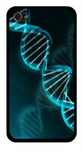 Medical Pharmacy Biology Student Nerdy DNA BLACK Snap-On Cover Hard Carrying Case for iPhone 4/4S