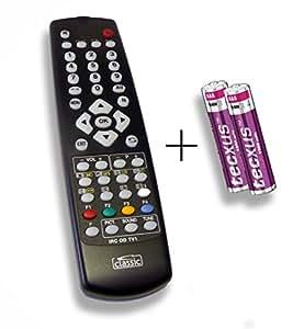 Mando a distancia de repuesto especialmente para Tevion TV 7004/A dlze® de Edition (Incluye Pilas