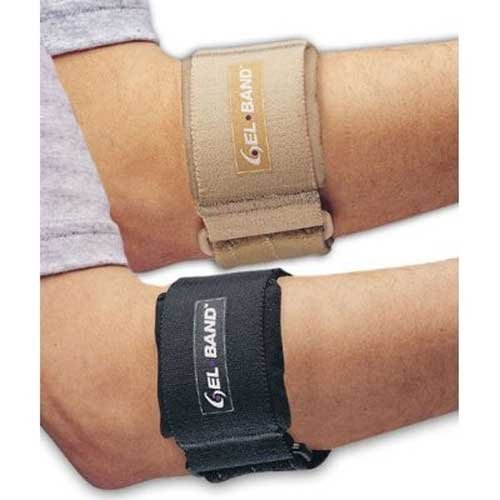 (Professional Grade Tennis Elbow Gel Band, Arm Band Strap - Black)