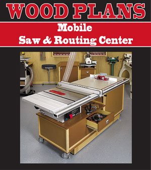 MOBILE SAW & ROUTING CENTER WOODWORKING PAPER PLAN (Center Woodworking Plan)