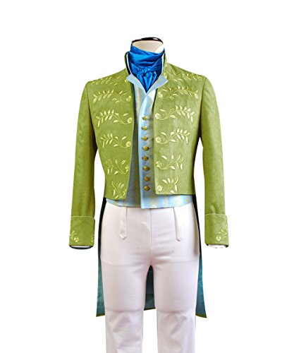 Cinderella Outfit - Cinderella Prince Charming Attire Outfit Cosplay Costume Halloween Uniform Green Medium