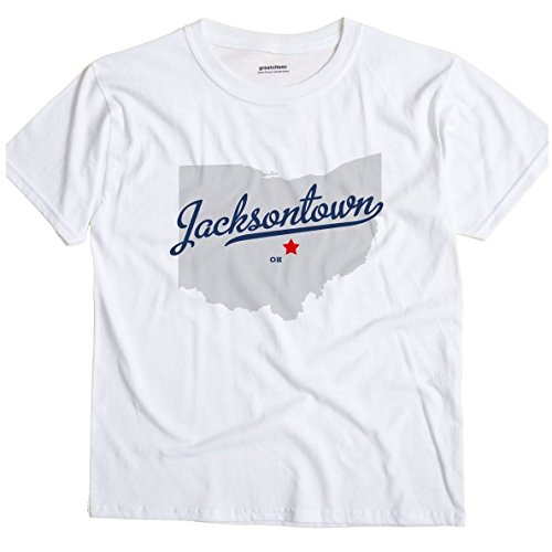 GreatCitees Jacksontown Ohio OH MAP Unisex Souvenir T Shirt