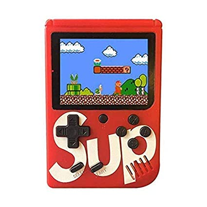 Catcher 400 in 1 Super Handheld Game Console, Classic Retro Video Game, Colourful LCD Screen, Portable, Best for Kids (Red)