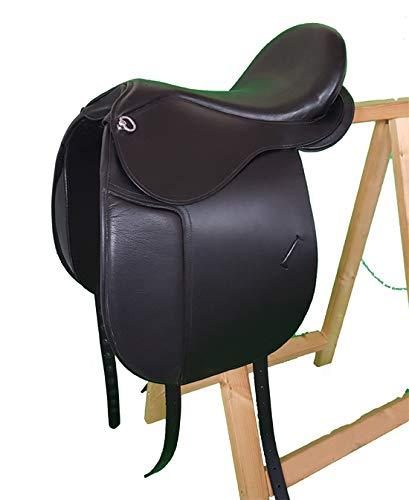 16\ Tree Loose Dressage with Velcro Bristol Buffalo Leather Black Cushion