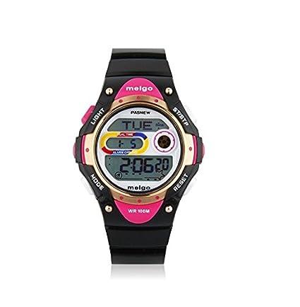 Gamuttek Pasnew LED de alta calidad resistente al agua 100m Deportes reloj digital para niños niñas