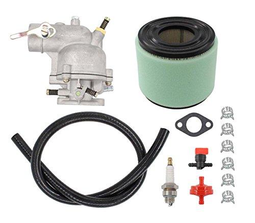 Carburetor Air Filter Fuel Hose Shut Off Valve For Briggs & Stratton 390323 394228 299169 7 8 9 HP Horizontal Engine Motor Generator Tiller Mower Carb Toro Snowblower 293950 394514 ()